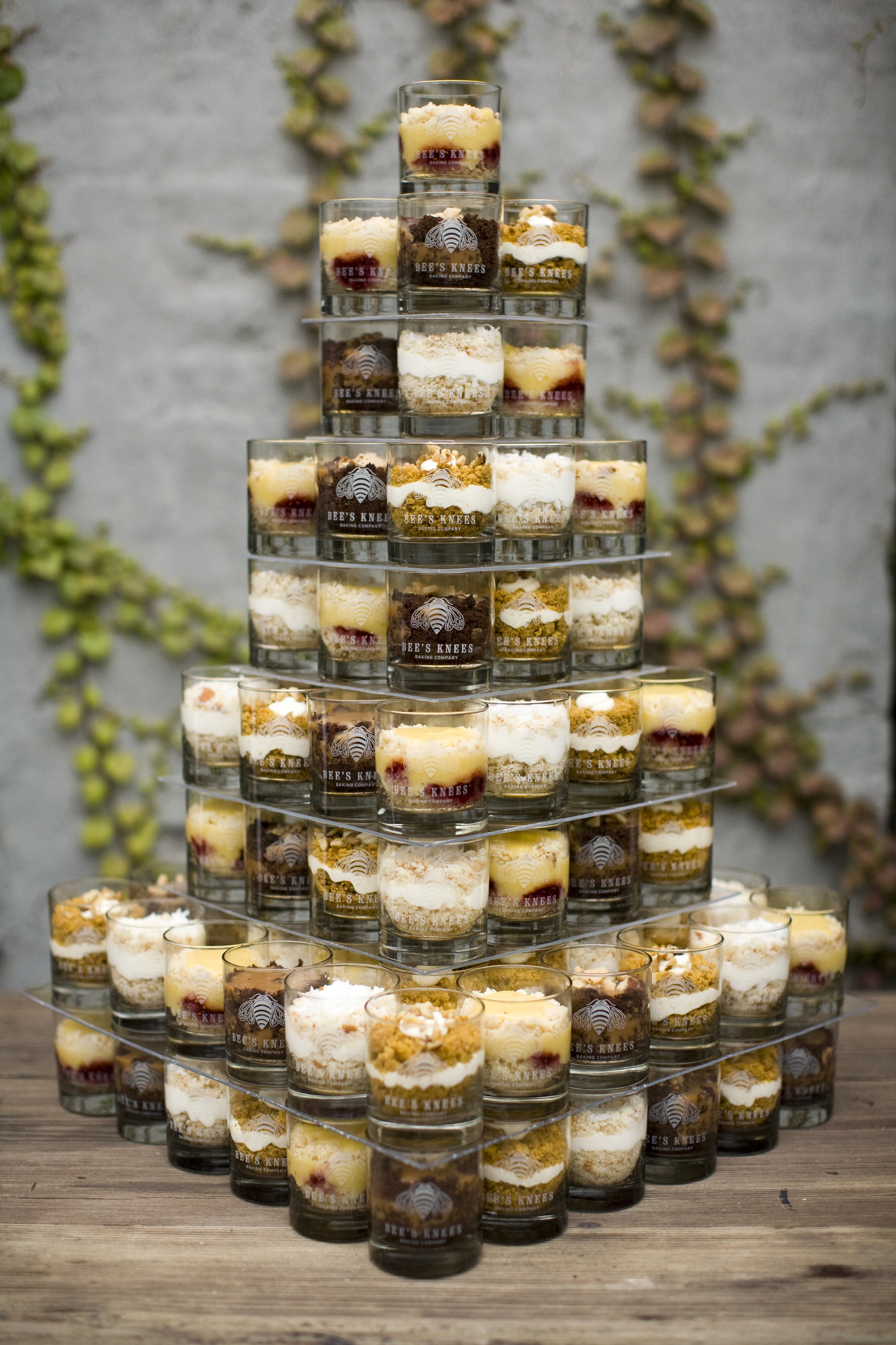 Friday feature bee s knees baking co beauandarrowevents for Mini dessert recipes in shot glasses uk