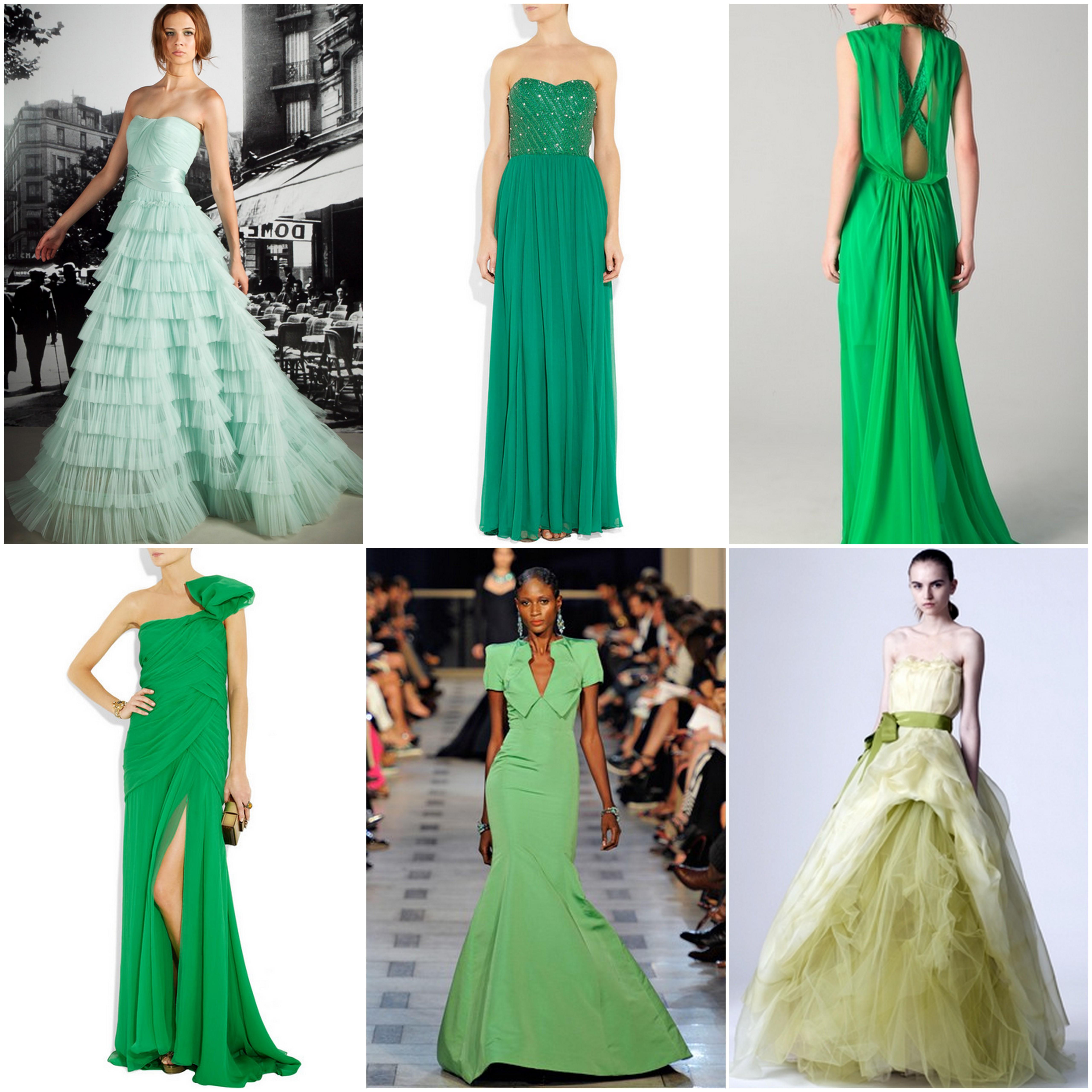 Vera Wang Green Wedding Dress Beauandarrowevents
