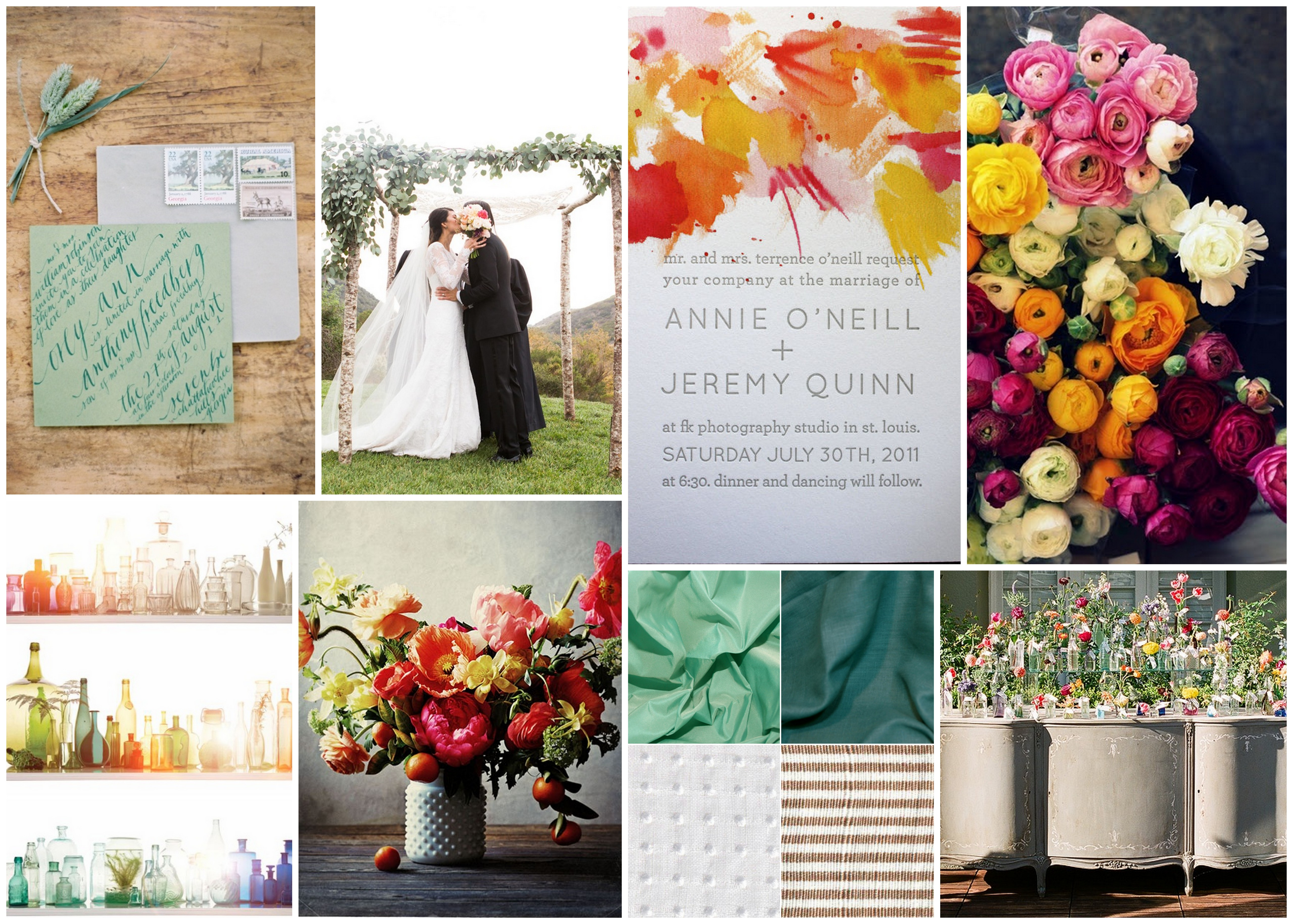 Summer Wedding Colors 2014 The wedding took place at
